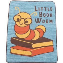 Little Book Worm Throw Blanket