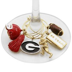 Georgia Bulldogs Glassware Charm Set