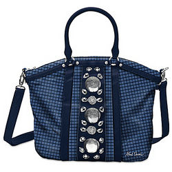 First Lady Designer Handbag with Simulated Jewels