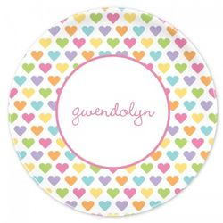 Personalized Candy Hearts Plate