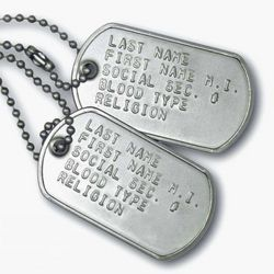 Personalized Stainless Steel Dog Tag Set