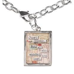 """Not All Those Who Wander"" Charm Necklace"