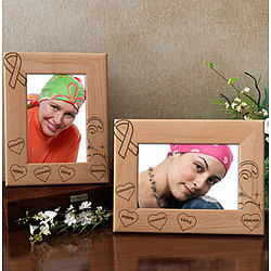 Personalized Cancer Awareness Wooden Picture Frame