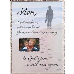'In God's Time' Memorial Photo Frame for Mom