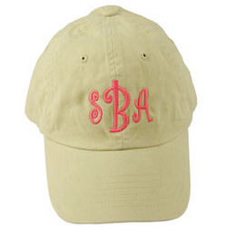 Personalized Washed Brushed Cotton Twill Cap in Lime