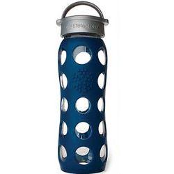 Midnight Blue Glass Beverage Bottle