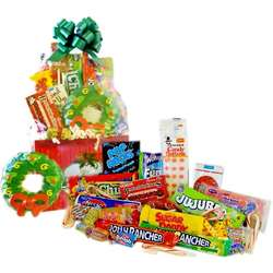 Holiday Wreath Retro Candy Gift Basket