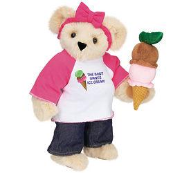 "The Baby Wants Ice Cream 15"" Pregnancy Teddy Bear"