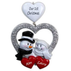Our First Christmas Personalized Wedding Ornament