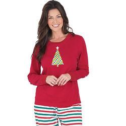 Holiday Stripe Pajamas for Women