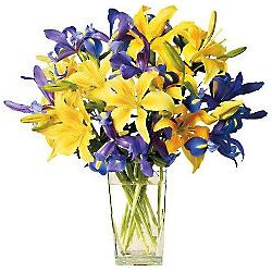 Purely Spectacular Blue and Yellow Bouquet