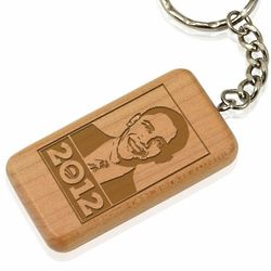 Obama 2012 Maple Key Chain