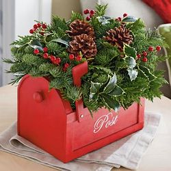 Cedarwood Holiday Centerpiece