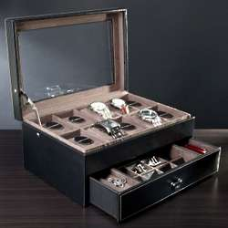 Personalized Valet Box and 10 Watch Display Case