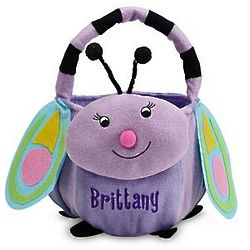 Butterfly Personalized Plush Easter Basket