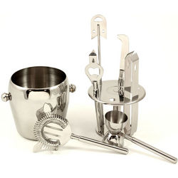 7-Piece Stainless Steel Bar Accessory Set