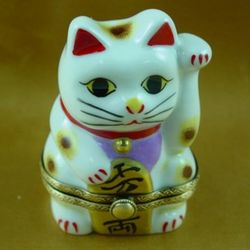 Happy Cat Limoges Box