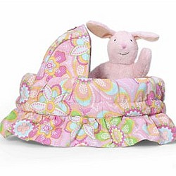 Personalized Basket Bag with Flopsy Mopsy the Bunny
