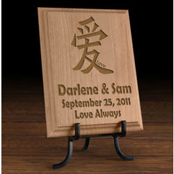 Personalized Chinese Symbol Wooden Plaque