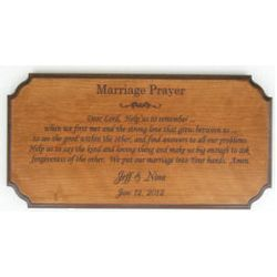 Personalized Wooden Wedding Plaque