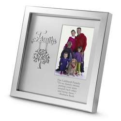 Personalized Silver Family Shadowbox Picture Frame
