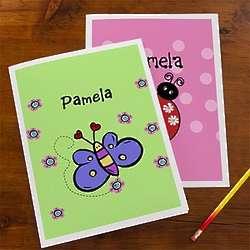 Personalized Girl's School Folders