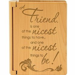 To Be a Friend Wooden Photo Album