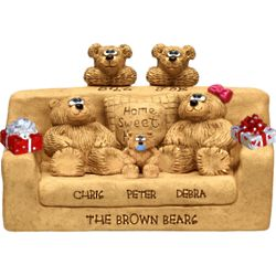 Golden Anniversary Sofa for Bear Couple with up to 7 Kids