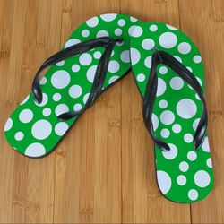 Green Polka Dot Beacher Sandal