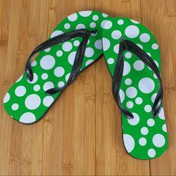 Green Polka Dot Beacher Sandal