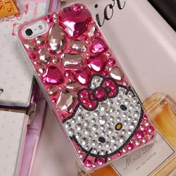 Light Pink Jewels Hello Kitty Cell Phone Case