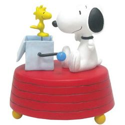 Snoopy and Woodstock Figurine Musical Box