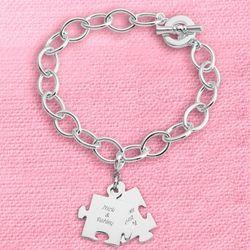 Puzzle Piece Charm Bracelet