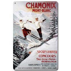 Ski Chamonix-Mont Blanc Metal Sign