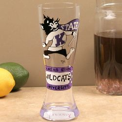 Kansas State Wildcats Hand-Painted Pilsner Glass
