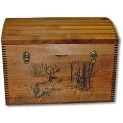Deer Imprint Camel Back Trunk with Tray