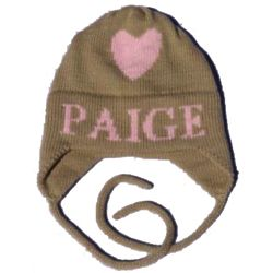 Personalized Floating Heart Hat with Earflaps