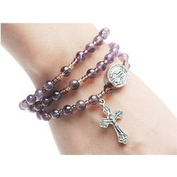 Lavender Rosary Wrap Bracelet
