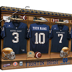 Personalized Canvas College Football Locker Room Print