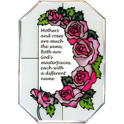 Mothers and Roses Glass Suncatcher