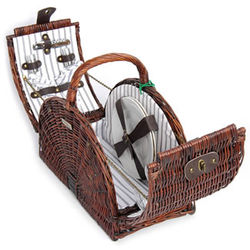 Large Willow Picnic Basket for 2