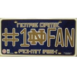 Notre Dame No.1 Fan Fighting Irish College License Plate