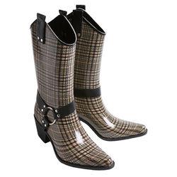 Plaid Cowboy Rain Boots