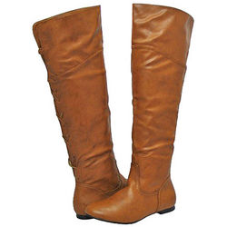 Women's Tan Over the Knee Boots