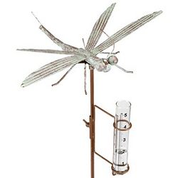 Dragonfly Rain Gauge Sculpture
