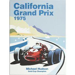 Personalized Race Car Grand Prix Canvas Art