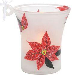 Mini-Candle Poinsettia Ornament