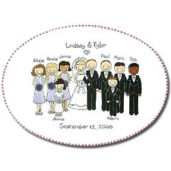 Personalized Wedding Portrait Platter