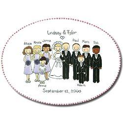 Personalized Wedding Portrait Platter