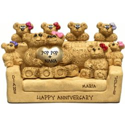 Anniversary Sofa for Bear Couples with up to 7 Kids